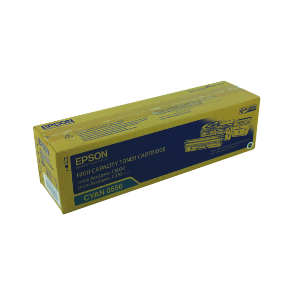 Epson AcuLaser C1600/CX16 High Capacity 2.7K Cyan Toner Cartridge C13S050556