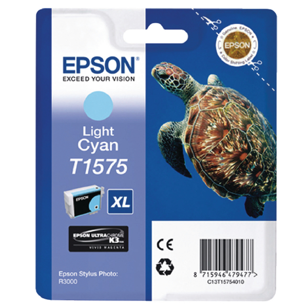 Epson T1575 Light Cyan Inkjet Cartridge C13T15754010 / T1575
