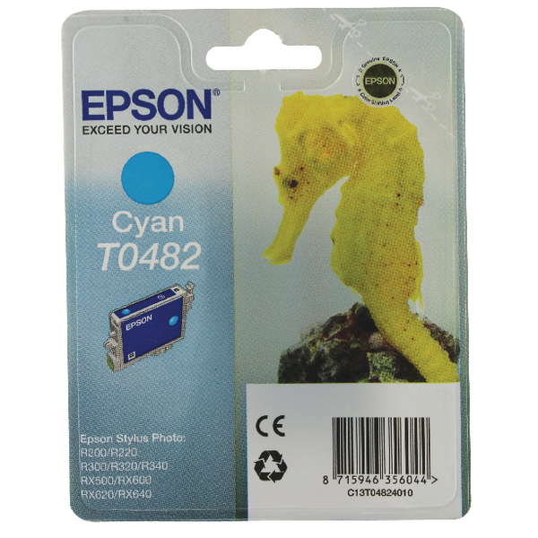 Epson T0482 Cyan Inkjet Cartridge C13T04824010