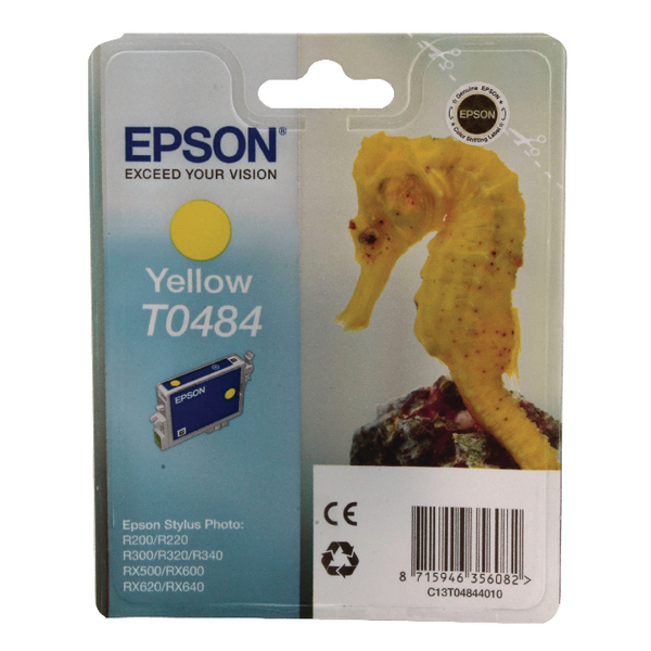 Epson T0484 Yellow Inkjet Cartridge C13T04844010