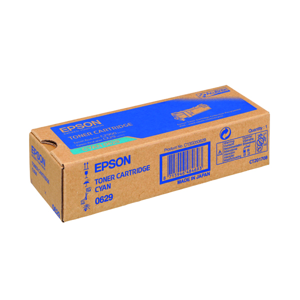 Epson S050629 Cyan Toner Cartridge C13S050629 / S050629