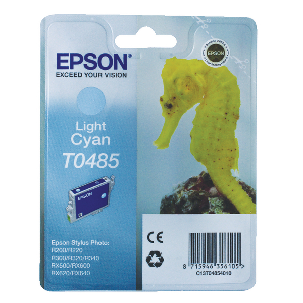 Epson T0485 Light Cyan Inkjet Cartridge C13T04854010