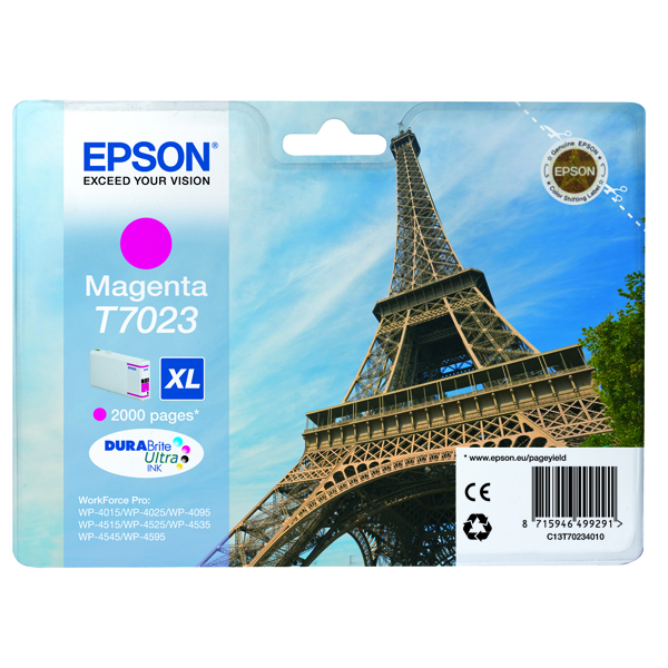 Epson T7023 High Yield Magenta Inkjet Cartridge C13T70234010 / T7023