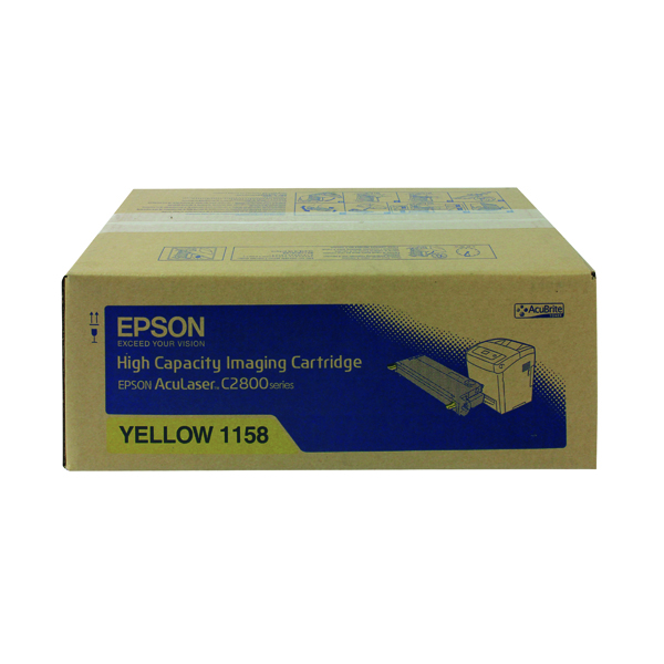 Epson S0511 Yellow Toner Cartridge High Capacity C13S051158 / S051158