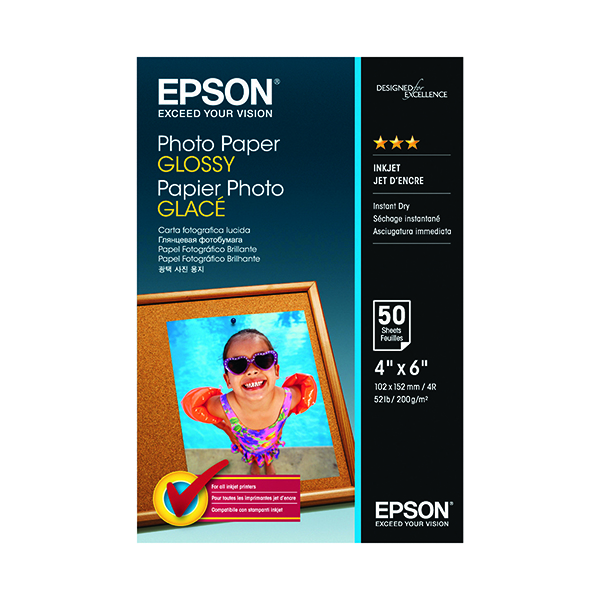 Epson Photo Paper Glossy 10x15cm 200gsm (Pack of 50) C13S042547
