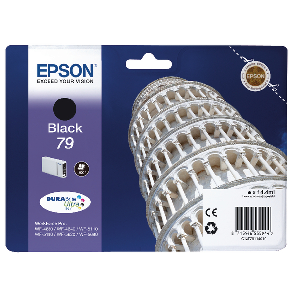 Epson 79 Black Inkjet Cartridge C13T79114010 / T7911