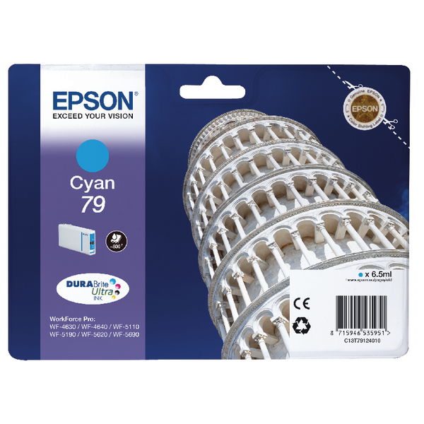 Epson 79 Cyan Inkjet Cartridge C13T79124010 / T7912