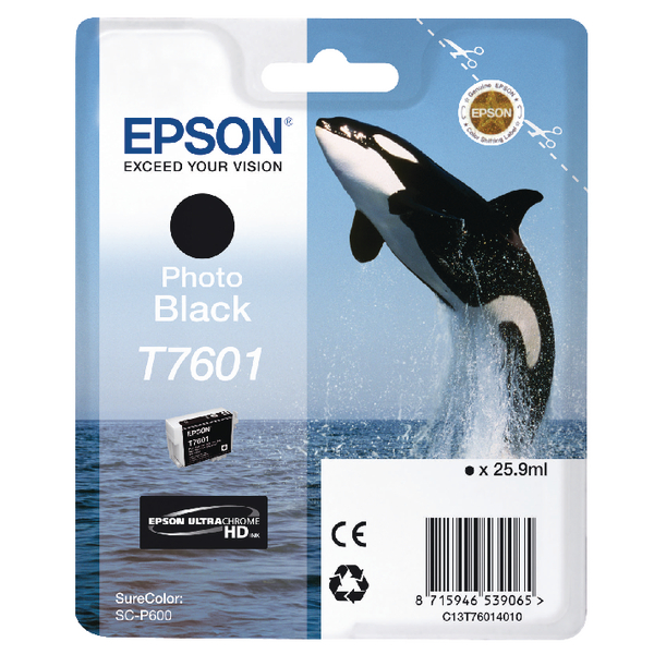 Epson T7601 Photo Black Ink Cartridge C13T76014010 / T7601