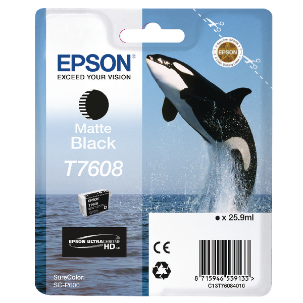 Epson T7608 Matte Black Ink Cartridge C13T76084010 / T7608