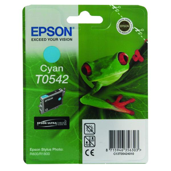 Epson T0542 Cyan Inkjet Cartridge C13T05424010