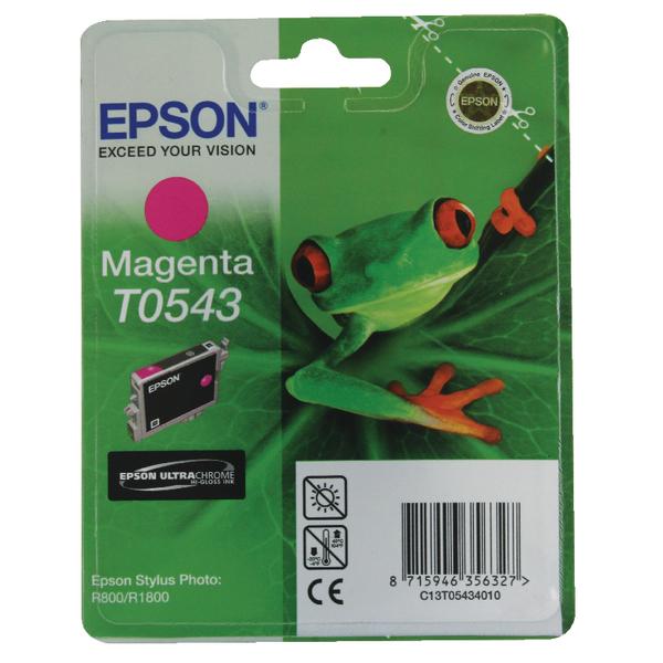 Epson T0543 Magenta Inkjet Cartridge C13T05434010