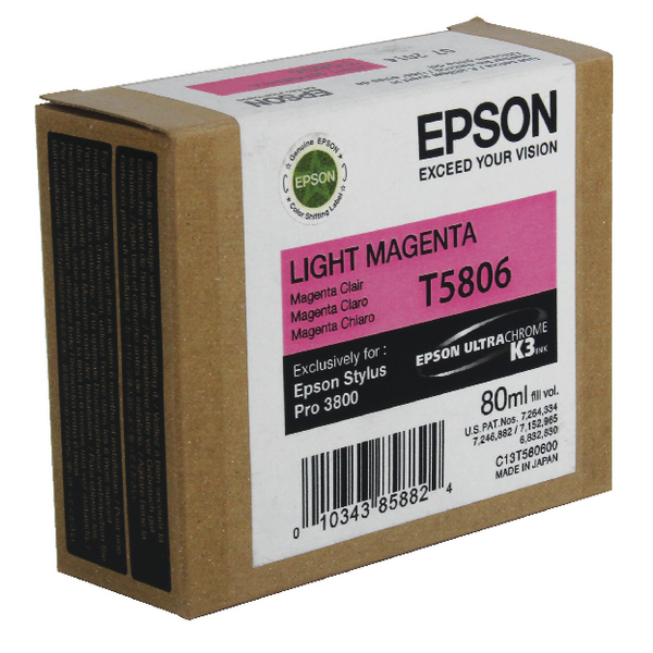 Epson T5806 Light Magenta Inkjet Cartridge C13T580600 / T5806