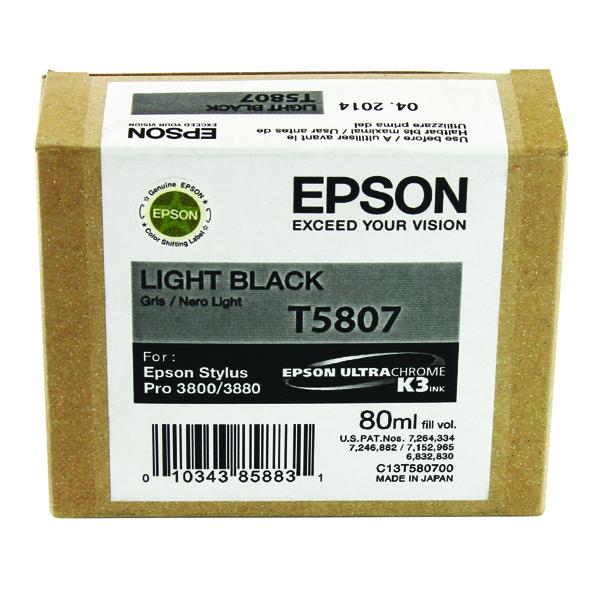 Epson T5807 Light Black Inkjet Cartridge C13T580700 / T5807