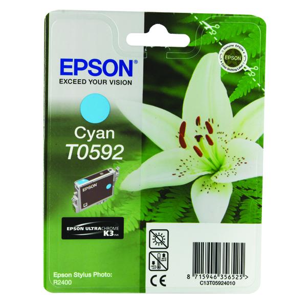 Epson T0592 Cyan Inkjet Cartridge C13T05924010 / T0592