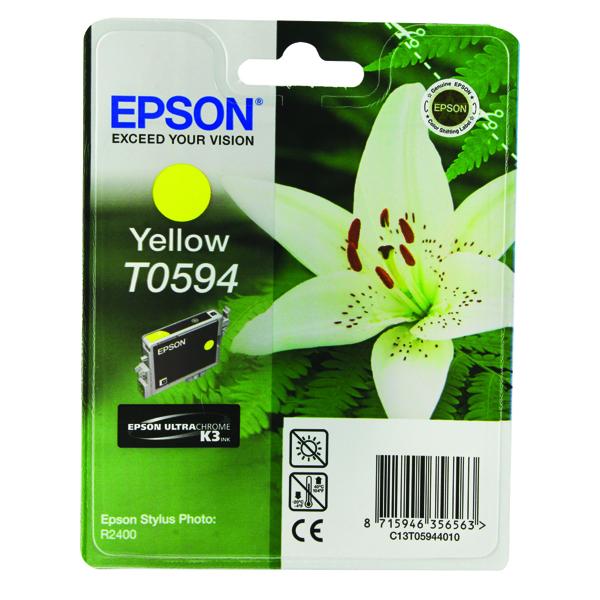 Epson T0594 Yellow Inkjet Cartridge C13T05944010 / T0594