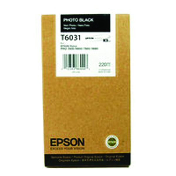Epson T6031 Photo High Yield Black Inkjet Cartridge C13T603100 / T6031
