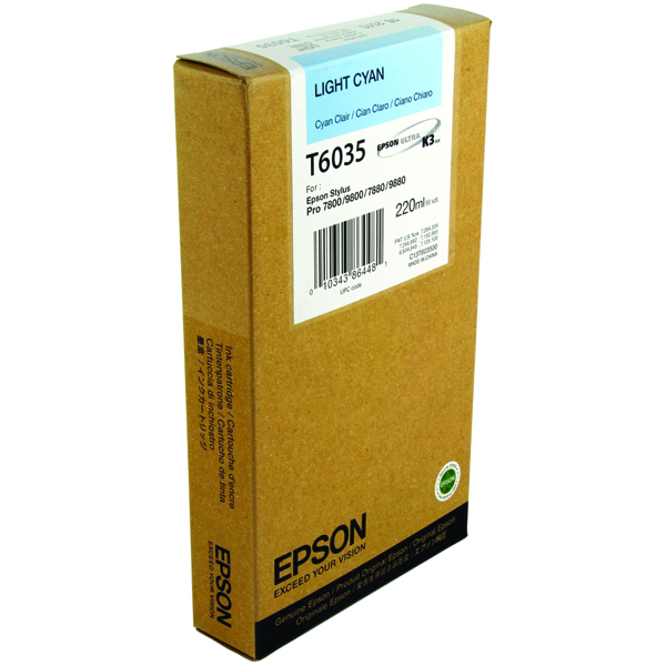Epson T6035 Light High Yield Cyan Inkjet Cartridge C13T603500 / T6035