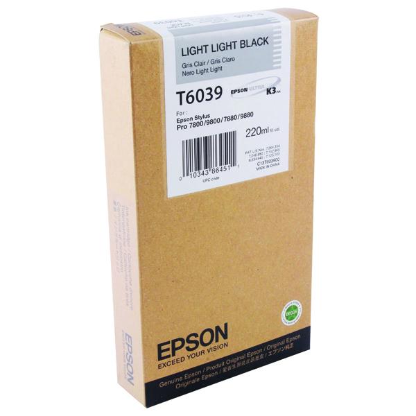 Epson T6039 Light Light High Yield Black Inkjet Cartridge C13T603900 / T603900