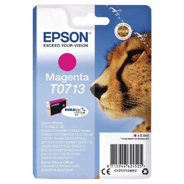 Epson T0713 Magenta Inkjet Cartridge (270 page capacity) C13T07134012