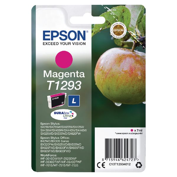Epson T1293 Magenta Ink Cartridge C13T12934012