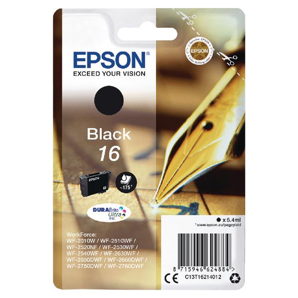 Epson 16 Black Inkjet Cartridge C13T16214012