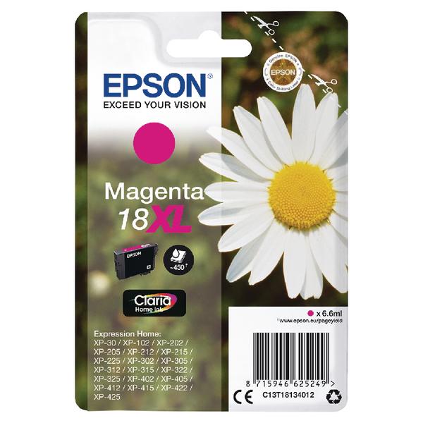 Epson 18XL Magenta Inkjet Cartridge 6.6ml C13T18134012