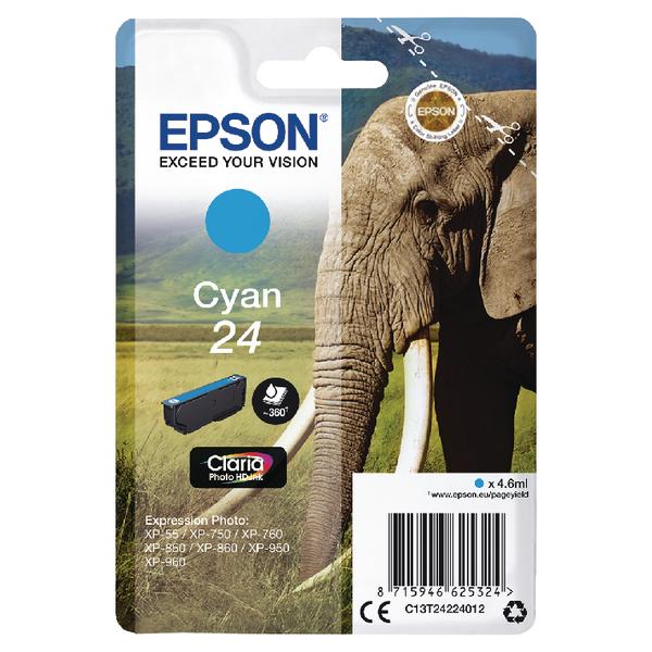 Epson 24 Cyan Inkjet Cartridge C13T24234012