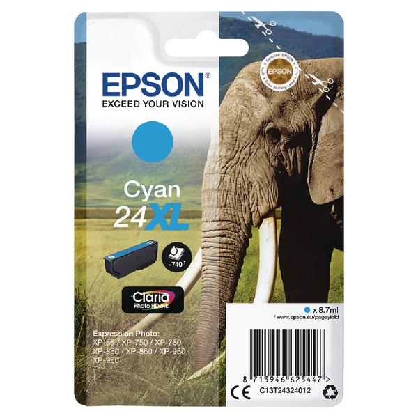 Epson 24XL Cyan Inkjet Cartridge C13T24324012