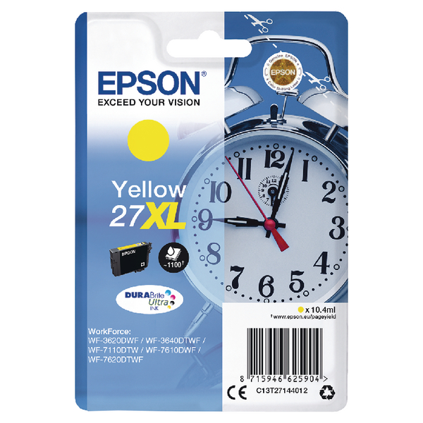 Epson 27XL Yellow Inkjet Cartridge C13T27144012