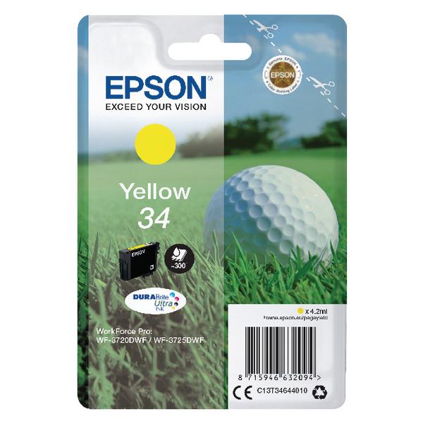 Epson Singlepack Yellow 34 DURABrite Ultra Ink C13T34644010