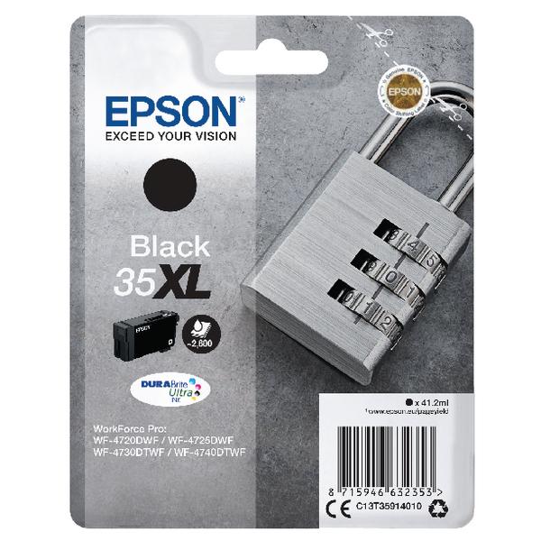 Epson Singlepack Black 35XL DURABrite Ultra Ink C13T35914010