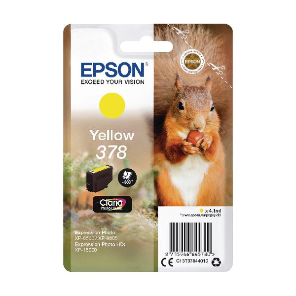 Epson 378 Yellow Photo HD Inkjet Cartridge C13T37844010