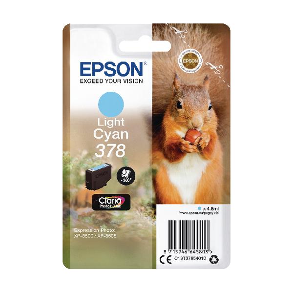 Epson 378 Light Cyan HD Inkjet Cartridge C13T37854010