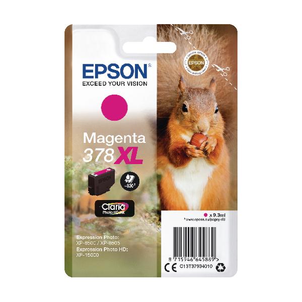 Epson 378XL Magenta Photo HD Inkjet Cartridge C13T37934010