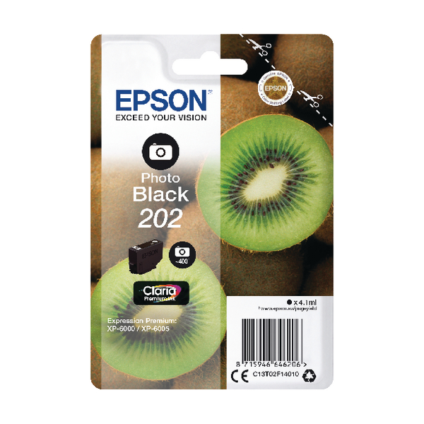Epson 202 Photo Black Inkjet Cartridge C13T02F14010