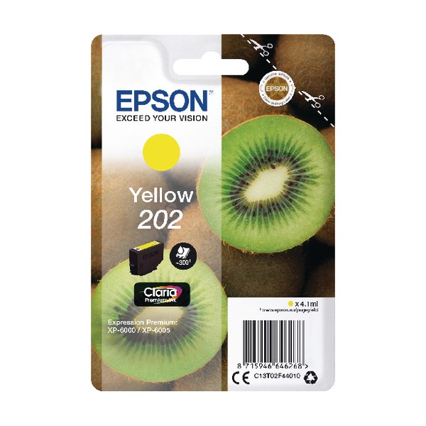 Epson 202 Yellow Inkjet Cartridge C13T02F44010