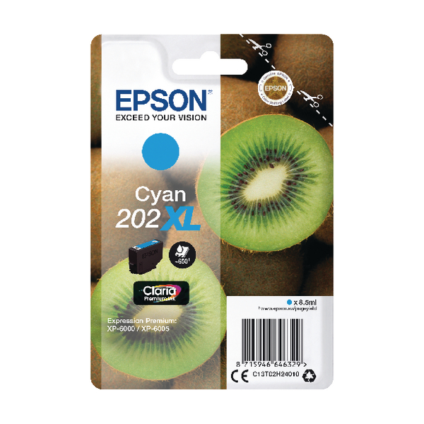 Epson 202XL Cyan Inkjet Cartridge C13T02H24010