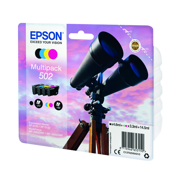 Epson Multipack 502 Ink 4-colours C13T02V64010