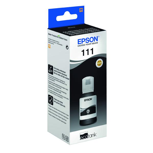 Epson 111 EcoTank Pigment Ink Bottle Black C13T03M140