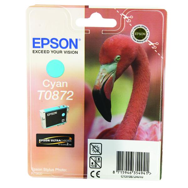 Epson T0872 Cyan Inkjet Cartridge C13T08724010 / T0872