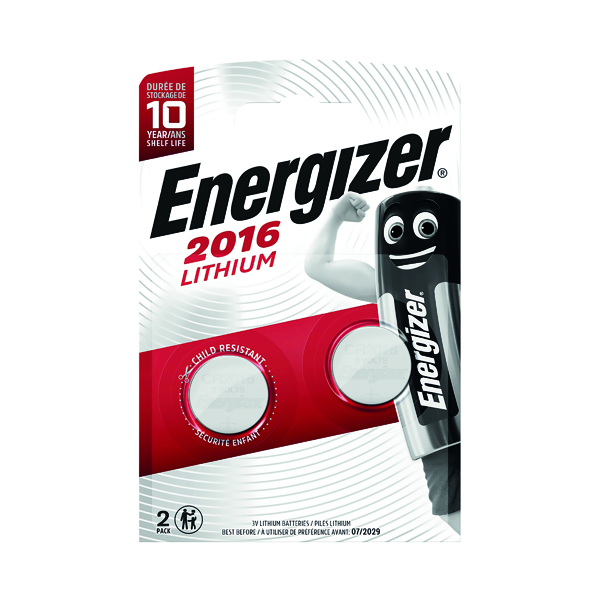 Energizer 2016/CR2016 Lithium Speciality Batteries (Pack of 2) 626986