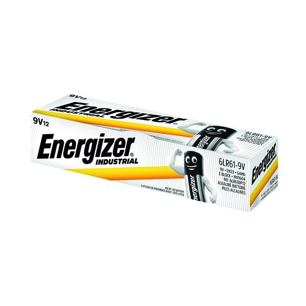 Energizer 9V Industrial Batteries (Pack of 12) 636109