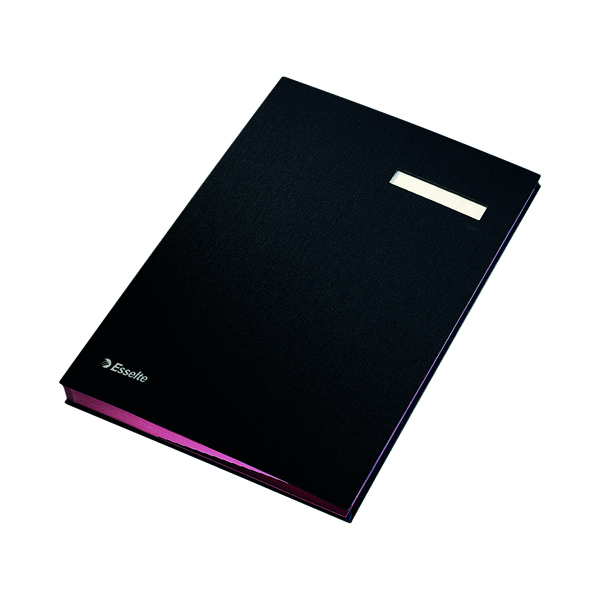 Esselte Signature Book 20 Part Black 621061