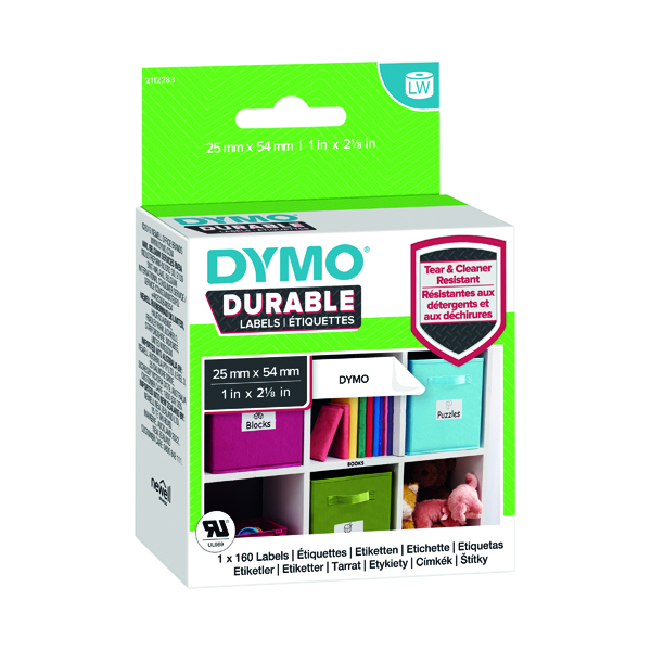 Dymo Durable LabelWriter Labels 25x54mm White (Pack of 160) 1976411