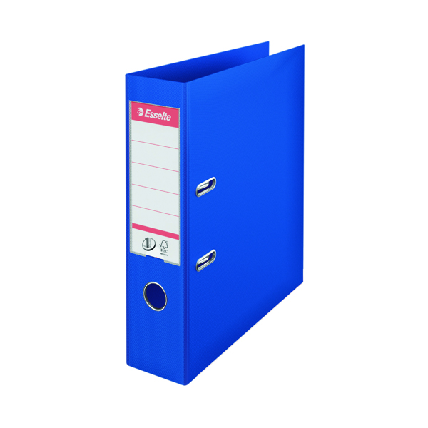 Esselte No 1 Lever Arch File Slotted 75mm A4 Blue (Pack of 10) 811350
