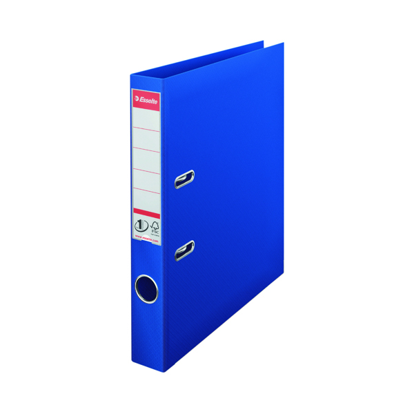 Esselte No 1 Plastic Lever Arch File 50mm A4 Blue (Pack of 10) 811450