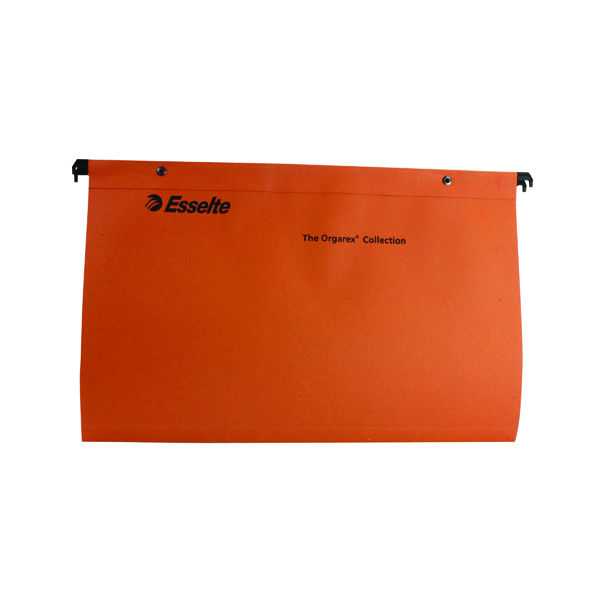 Esselte Orgarex Suspension File V Base Foolscap Orange (Pack of 50) 10402
