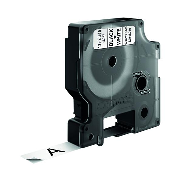 Dymo D1 Flexible 16957 Nylon Tape 12mm x 3,5m Black on White S0718040