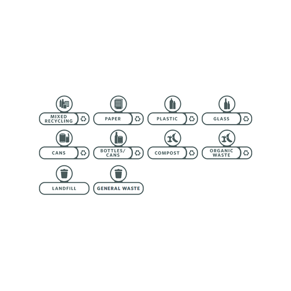 Rubbermaid Slim Jim Label Kit (Pack of 10) 2057734