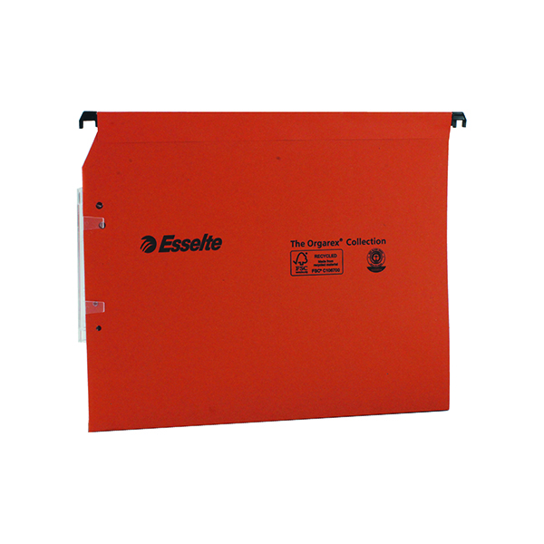 Esselte Orgarex 30mm Lateral File A4 Orange (Pack of 25) 21629